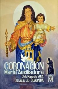 Cartel coronacion maria auxilaidora