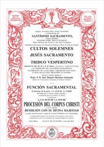 Convocatorio Cultos Corpus