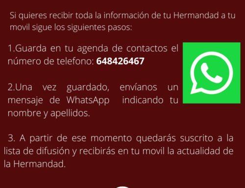 La Hermandad en WhatsApp
